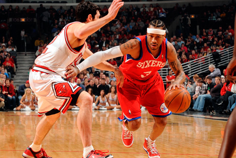 El 1c1 de Allen Iverson./Getty