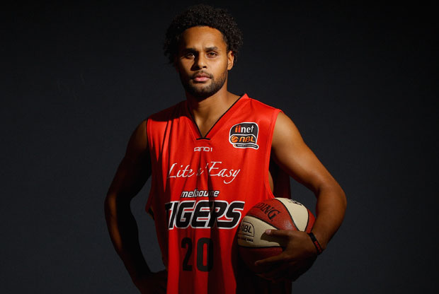 Patrick Mills poses after a Melbourne Tigers NBL press conference at the Melbourne Tigers Training Base on August 29, 2011 in Melbourne, Australia. (Photo by Quinn Rooney/Getty Images)