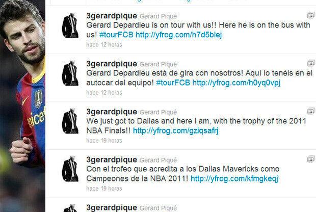 Mensaje de Piqué en su cuenta de twitter