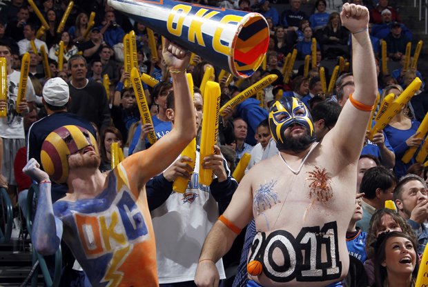 Aficionados de Oklahoma City Thunder./ Getty Images