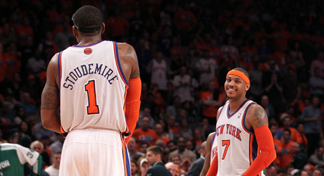 Amar'e Stoudemire y Carmelo Anthony (New York Knicks)./ Getty Images