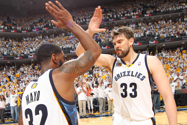 Marc Gasol y O.J. Mayo (Memphis Grizzlies)./ Getty Images