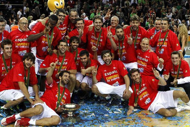 España campeona del Europeo de Lituania 2011./ FEB