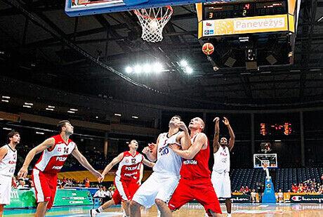 Ibaka intentando un lanzamiento desde la línea de tiros libres./FIBA Europe