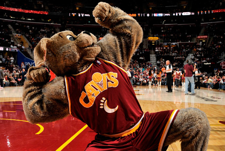 Mascota de los Cavs./Getty
