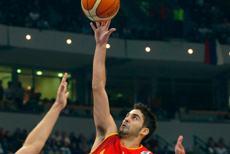 "Juan Carlos Navarro ejecuta una ""bomba""./FIBA Europe"