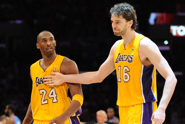 Pau Gasol y Kobe Bryant./ Getty Images