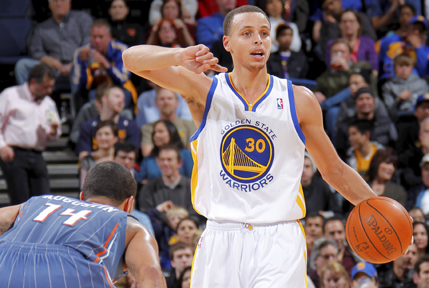Stephen Curry ante los Charlotte Bobcats (Golden State Warriors)./ Getty Images