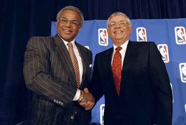 Billy Hunter y David Stern./ Getty Images