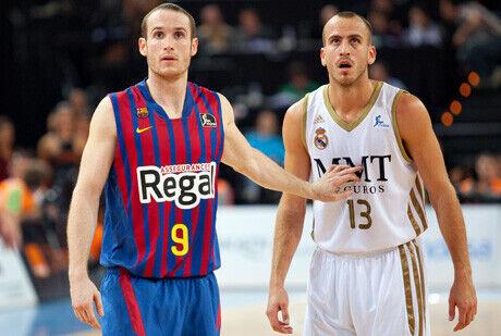 Marcelinho Huertas y Sergio Rodríguez, en la semifinal de la Supercopa Endesa./ ACB PHOTO