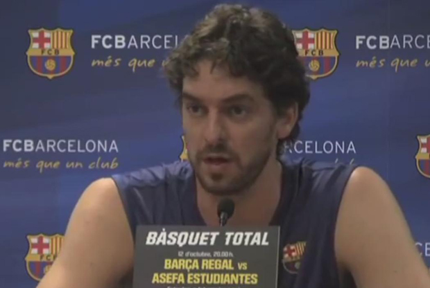 Pau Gasol (FC Barcelona Regal)./ Basket4us.com