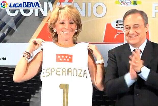 Esperanza Aguirre y Florentino Pérez