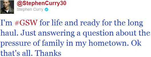 Twitter Stephen Curry