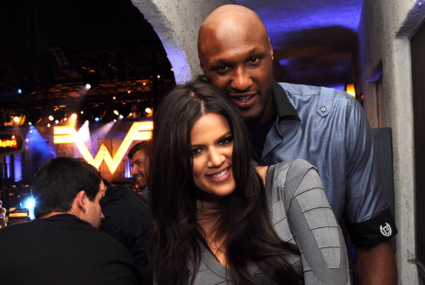 Lamar Odom y Kloe Kardashian./ Getty Images
