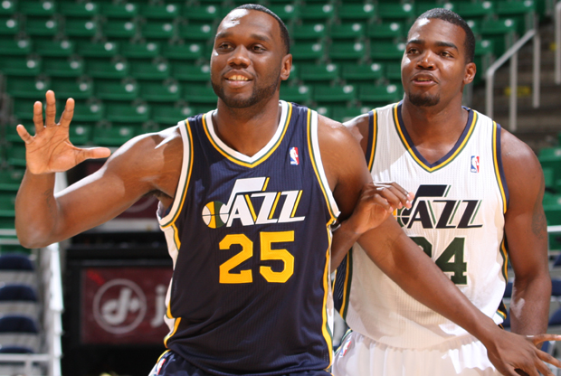 Al Jefferson y Paul Millsap./ Getty Images