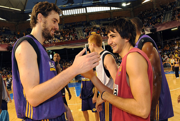 Pau Gasol y Ricky Rubio./ Getty Images