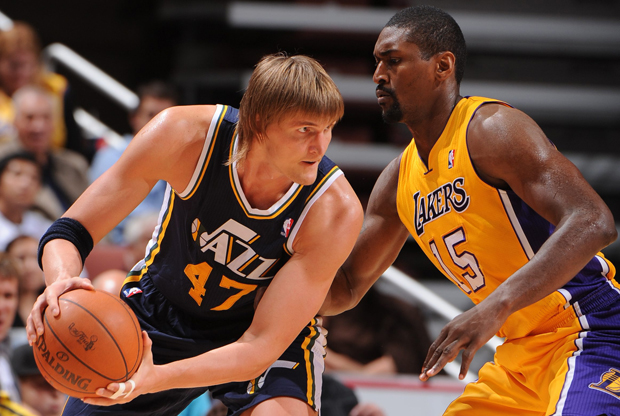 Andrei Kirilenko y Ron Artest./ Getty Images