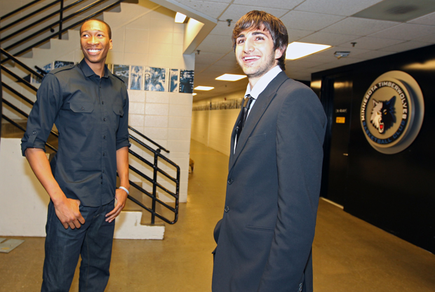 Wesley Johnson y Ricky Rubio./ Getty Images