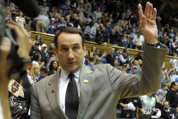 Mike Krzyzewski (Duke)./ Getty Images