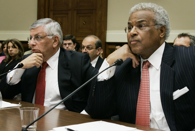 David Stern y Billy Hunter./ Getty Images