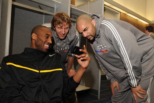 Kobe Bryant, Carlos Boozer y Dirk Nowitzki./ Getty Images