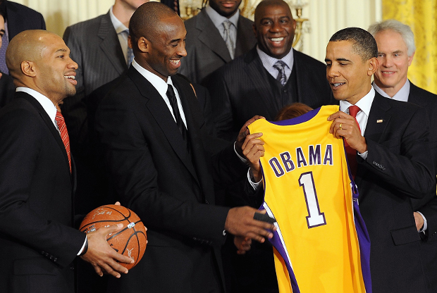 NBA Champion Los Angeles Lakers Visit the White House./ Getty Images