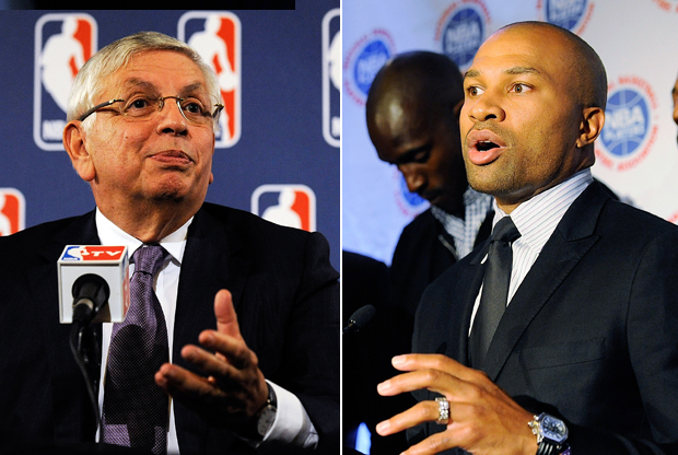David-Stern-y-Derek-Fisher./ Getty Images