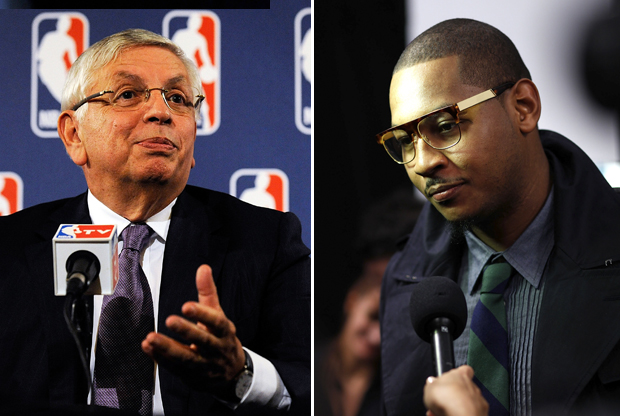 David Stern y Carmelo Anthony./ Getty Images