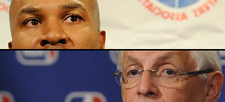 David Stern y Derek Fisher./ Getty Images