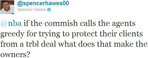 Twitter de Spencer Hawes