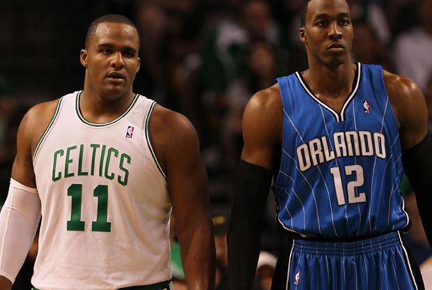 Glen Davis y Dwight Howard./ Getty Images