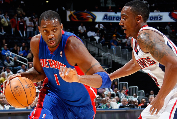 Tracy McGrady y Jeff Teague./ Getty Images
