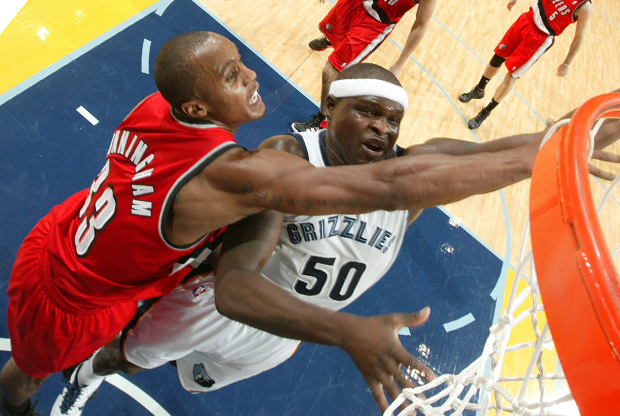 Zach Randolph y Dante Cunningham./ Getty Images