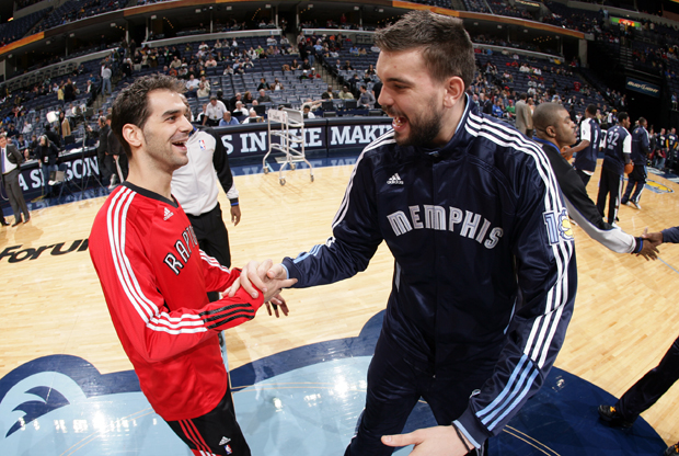 Jose Calderon y Marc Gasol./ Getty Images