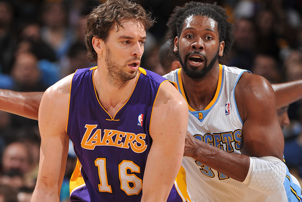 Pau Gasol y Nene./ Getty Images