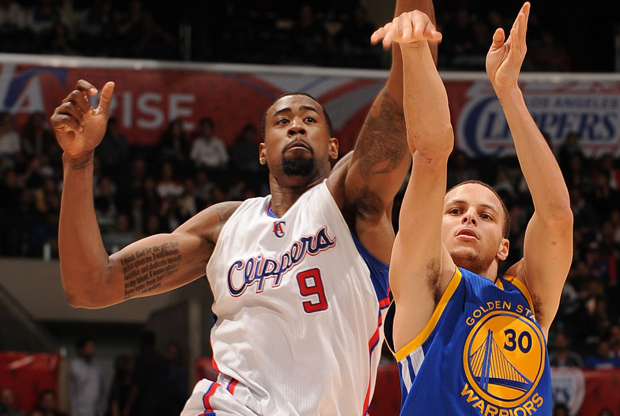 DeAndre Jordan y Stephen Curry./ Getty Images