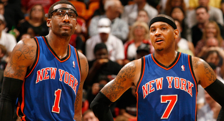 Amare Stoudemire y Carmelo Anthony (New York Knicks)./ Getty Images
