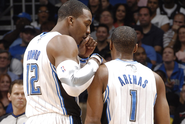 Dwight Howard y Gilbert Arenas/ Getty Images