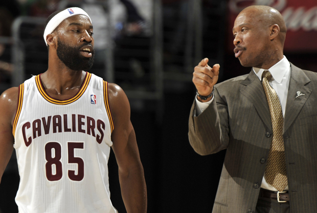Baron Davis y Byron Scott./ Getty Images