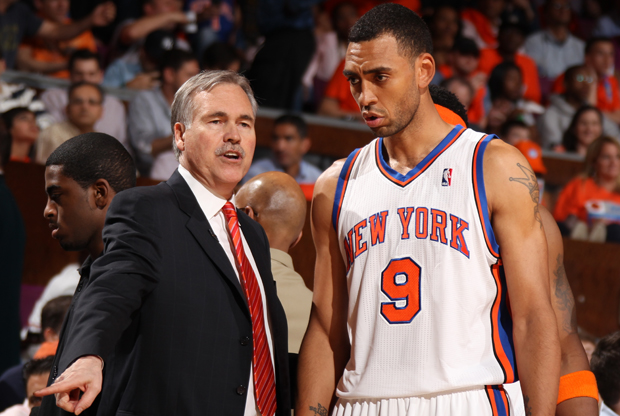 Mike D'Antoni y Jared Jeffries./ Getty Images