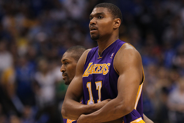 Andrew Bynum (Los Angeles Lakers)./ Getty Images