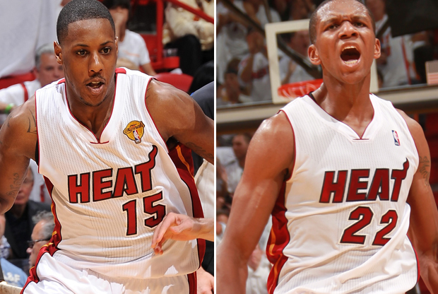 Mario Chalmers y James Jones./ Getty Images