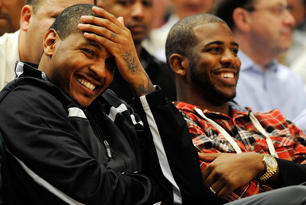 Carmelo Anthony y Chris Paul./ Getty Images