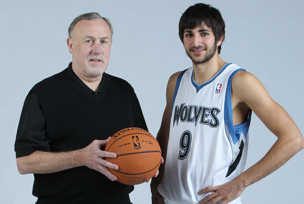 Rick Adelman y Ricky Rubio./ Getty Images