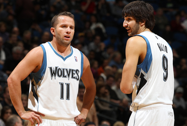 Jose Juan Barea y Ricky Rubio./ Getty Images