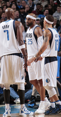 Lamar Odom, Vince Carter y Delonte West./ Getty Images