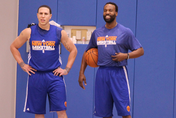 Baron Davis y Mike Bibby./ Getty Images