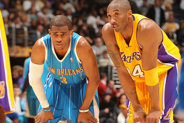 Chris Paul y Kobe Bryant./ Getty Images
