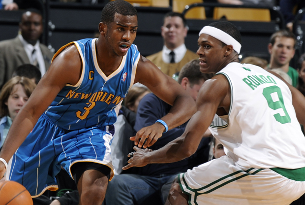 Chris Paul y Rajon Rondo./ Getty Images