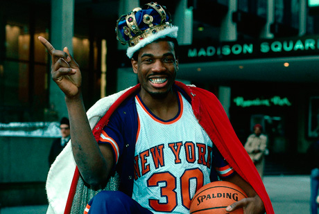 Bernard King posa delante del Madison Square Garden./ Getty